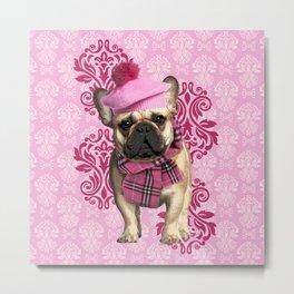 Dog Chic Metal Print