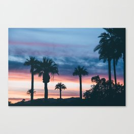 Beautiful Palm Tree Sunset Canvas Print