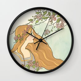 Guinevere Had Golden Hair Wall Clock