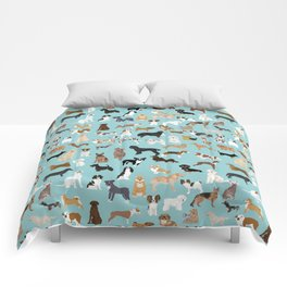 Dogs pattern print must have gifts for dog person mint dog breeds Comforters