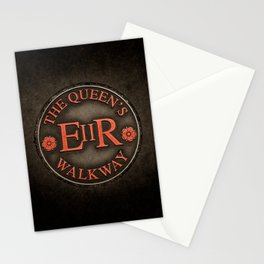 The Queen's Walkway Walking Path Marker Windsor England in Red Stationery Cards