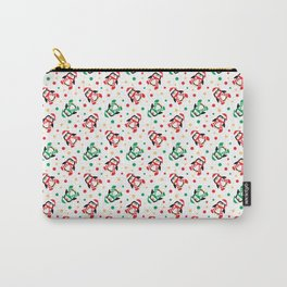 Christmas Penguins and Polka Dots Carry-All Pouch