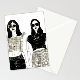 Girl Girls Stationery Cards
