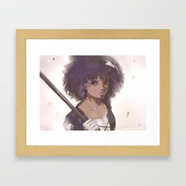 Plum Beauty Framed Art Print