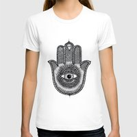 hamsa T-shirts featuring Hamsa by Luna Portnoi