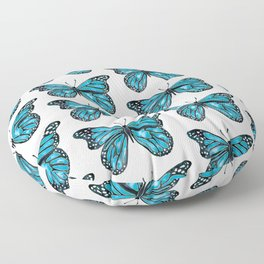 Blue Morpho Butterfly Floor Pillow