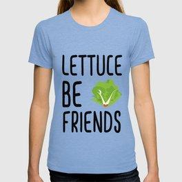 Lettuce Be Friends #lettuce #illustration #veggie #vegan #friends #green #veggiegift T-shirt