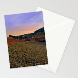 Beautiful valley scenery in the evening | landscape photography Stationery Cards
