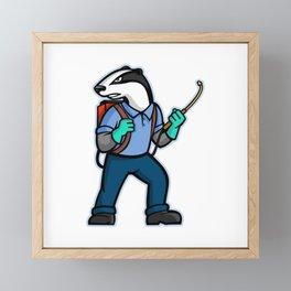 Badger Pest Control Mascot Framed Mini Art Print