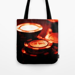 Casino Chips Stacks-Red Tote Bag
