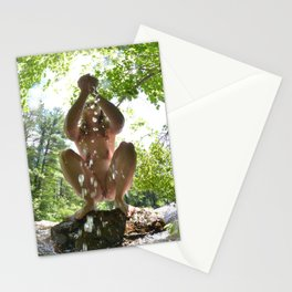 3116-KJ Water of Life Feminine Power Bathing in Nature Pure Water Stationery Cards