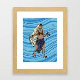 July Fairy Framed Art Print