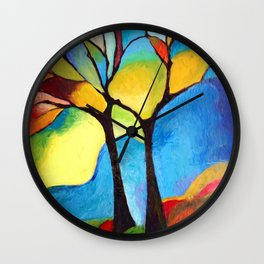 Grove in autumn Wall Clock