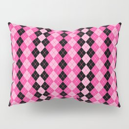 Argyle in Pink and Black Pillow Sham