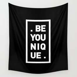 YOU AND YOURSELF (BLK) Wall Tapestry