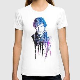 SHERLOCK portrait #WATERCOLOR T-shirt
