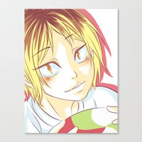 haikyuu Canvas Prints featuring Kenma Haikyuu!! by SpigaRose
