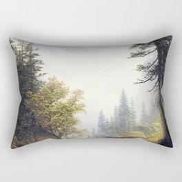 Albert Bierstadt - Among the Bernese Alps Rectangular Pillow