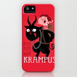 Have fun with Krampus iPhone Case