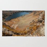 hiking Area & Throw Rugs featuring Mountain hiking by Mariana Lisina