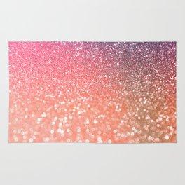 Rose Gold Peach Glitter Blush Rug