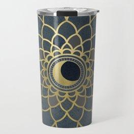 Mystical Moon Mandala Travel Mug