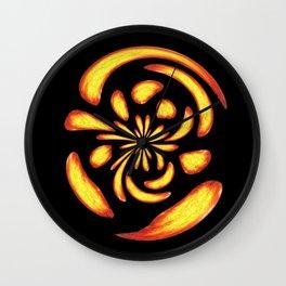 Dancing fire balls Wall Clock