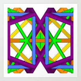geometron tile a1 gmtrx Art Print