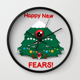 Happy New Fears Wall Clock