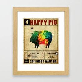 Happy pig Framed Art Print