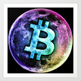 Bitcoin Moon Art Print