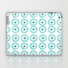 Baby Blue Evil Eye Laptop & iPad Skin