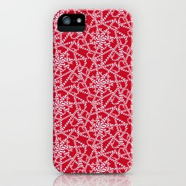 Candy cane flower pattern 2a iPhone Case