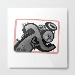 Sticker Society Metal Print
