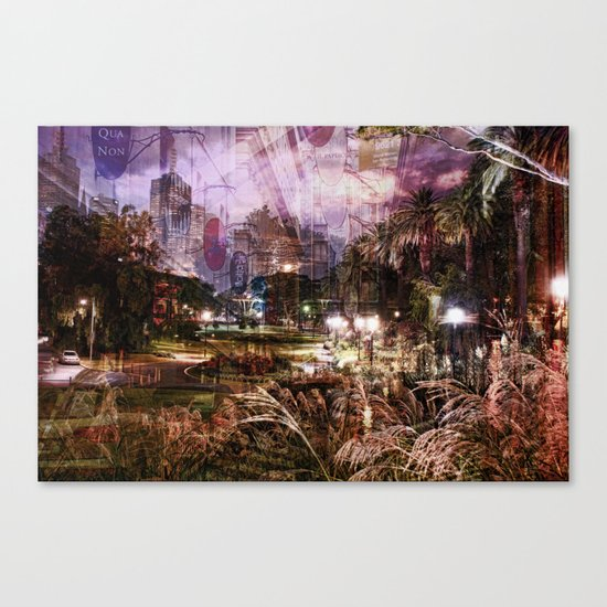 Double Exposure Art Canvas Print