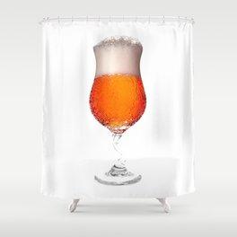 Elegant Beer Glass Shower Curtain