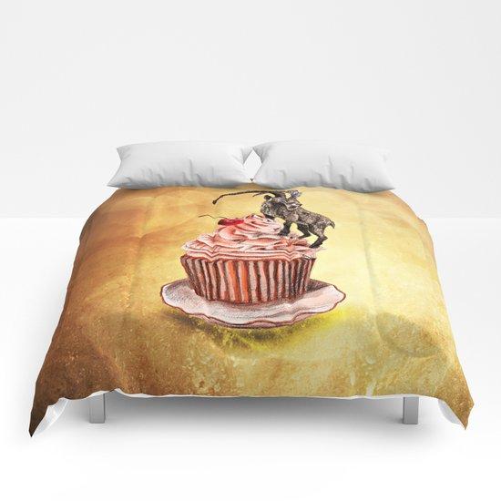 Unconquered Peak // goat cupcake Comforters