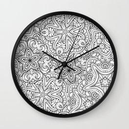 Mandalas pattern Wall Clock