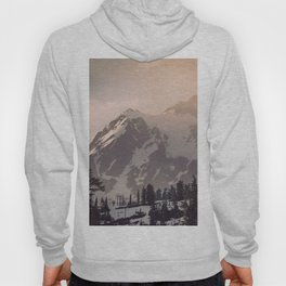 Pink Mountain Morning - Nature Photography Hoody