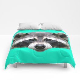Raccoon // Mint Comforters