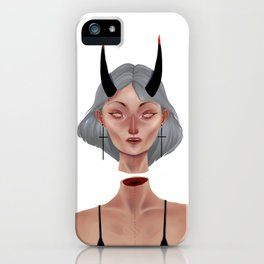 Demon (white version) iPhone Case
