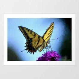 Butterfly (Synhetextureus) Art Print