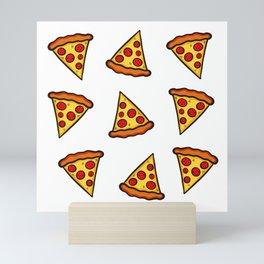 Pizza Pattern Mini Art Print