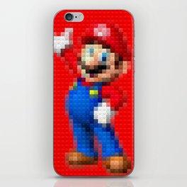 Mario - Toy Building Bricks iPhone Skin