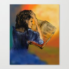GIRL READING A BOOK Canvas Print