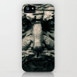 Wooden Man I (B&W) iPhone Case
