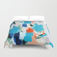cape cod Duvet Covers featuring Cape Cod by kristinesarleyart