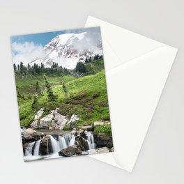 Mt. Rainier, Edith Creek, Scenic Landscape, National Park Stationery Cards