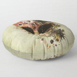 Garden Skull Light Floor Pillow