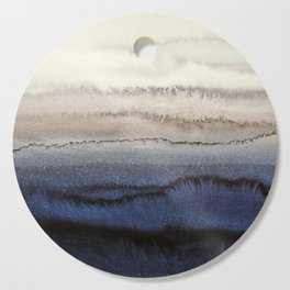 WITHIN THE TIDES WINTER BLUES by Monika Strigel Cutting Board